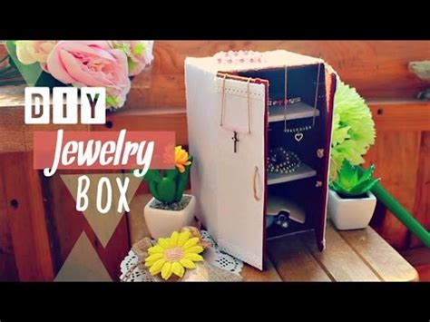 how to make cardboard jewelry boxes diy crafts how to make a jewelry box joyero