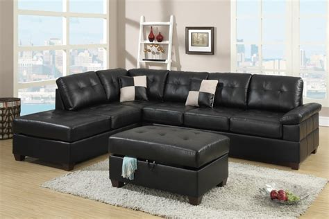 black leather sectional sofa with chaise black bonded leather sectional sofa with reversible chaise
