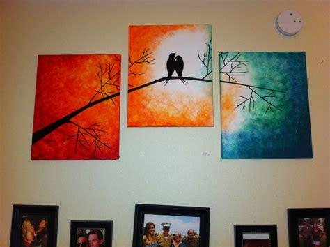 acrylic paint ideas canvas yes i stole the idea from but used acrylic a