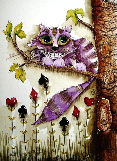 cheshire cats painting cheshire cat by lucia stewart