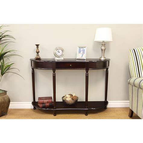 cherry sofa table with storage frenchi home furnishing cherry storage console table
