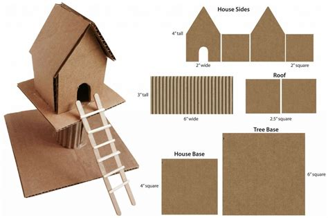 treehouse kid and craft cardboard treehouse projects for