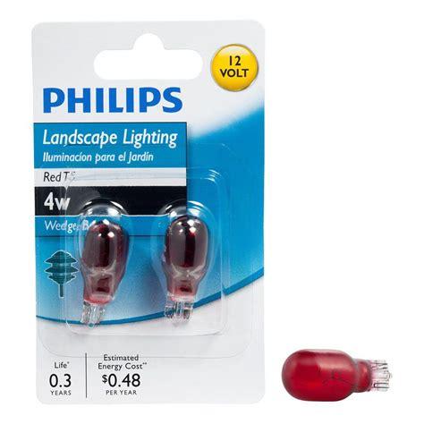 philips 4 watt 12 volt incandescent t5 landscape lighting wedge base light bulb 2 pack