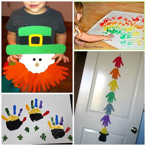 st patricks day craft st s day footprint handprint crafts for