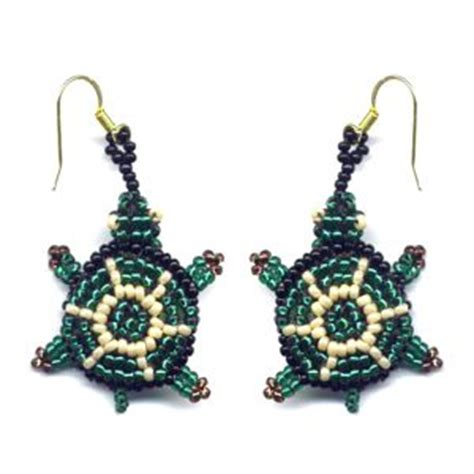 3d beaded turtle pattern 3d turtle earrings beading patterns and kits by