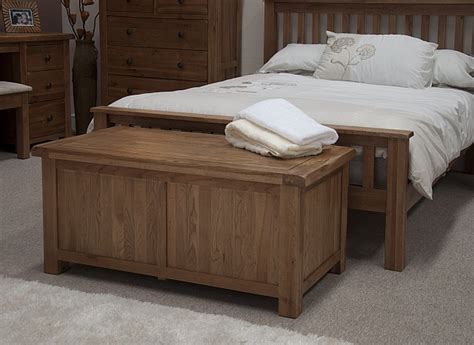 bedroom storage trunk tilson solid rustic oak bedroom furniture blanket storage