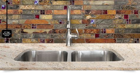 Cherry Kitchen Cabinets With Granite Countertops subway slate glass mosaic kitchen backsplash tile