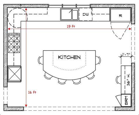 how to design my kitchen floor plan 17 best ideas about kitchen floor plans on