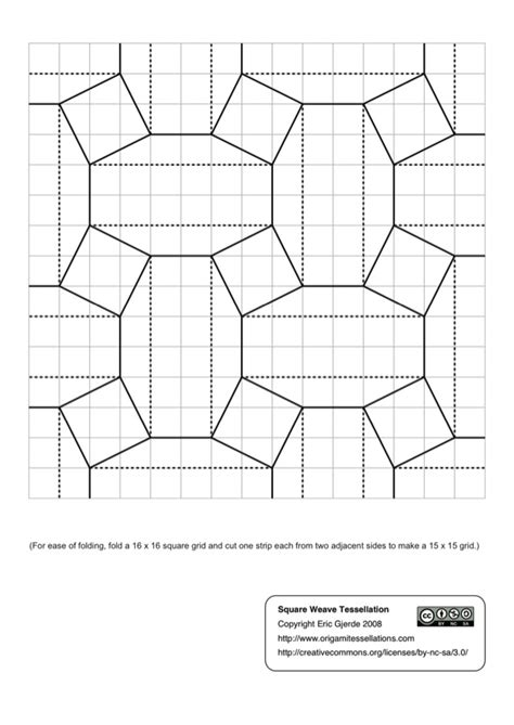 Convention Diagrams Origami Tessellations
