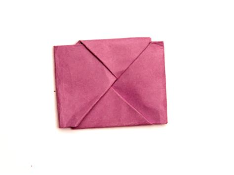folded square origami paper how to fold paper into a secret note square 10 steps