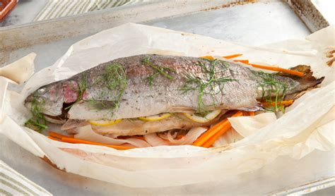 Kitchen Island Calgary whole trout en papillote in the kitchen with stefano faita