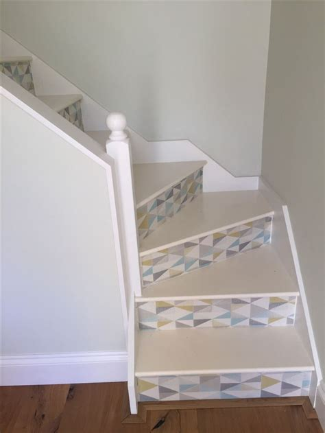 decoupage stairs 1000 ideas about wallpaper stairs on stair