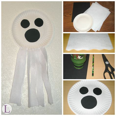 ghost craft for paper plate ghost craft as leels