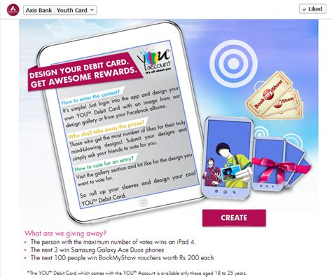 make your own debit card axis bank introduces its youth card via social media