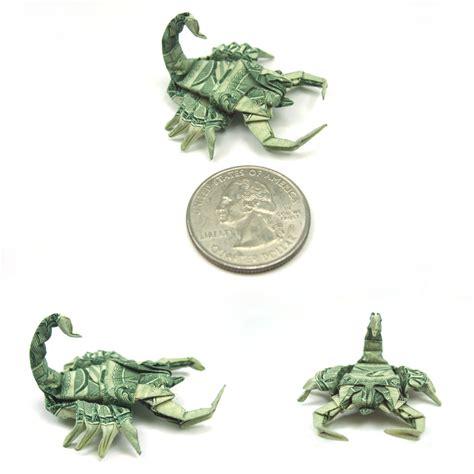 scorpion origami master dollar bill origami by won park