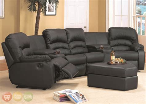 sectional sofas reclining ventura black leather sectional sofa reclining theater seating