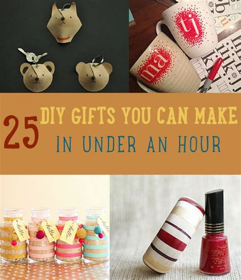 and easy diy gifts 25 diy gifts you can make in an hour diy ready