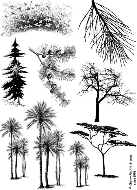 palm tree rubber st items similar to trees set of unmounted rubber sts