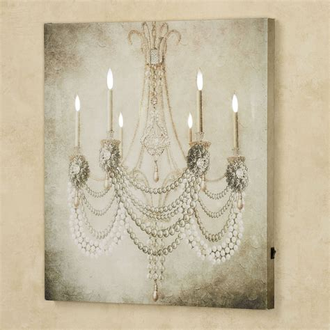chandelier painting vintage chandelier led lighted canvas
