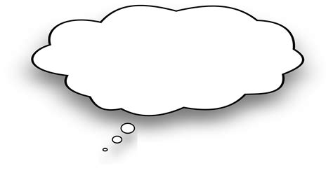 thought bubble images of blank thinking clipart free to