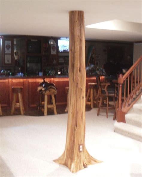 post covers for basement details about authentic cedar log basement pole covers