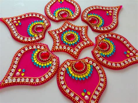diy designs how to make acrylic rangoli diy kundan rangoli