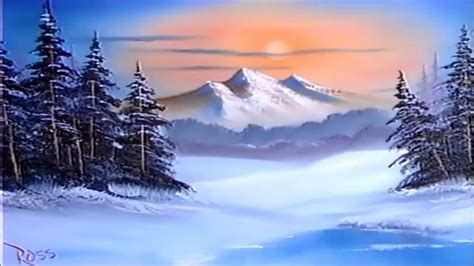bob ross paintings winter bob ross episode s9 e1 winter evergreens