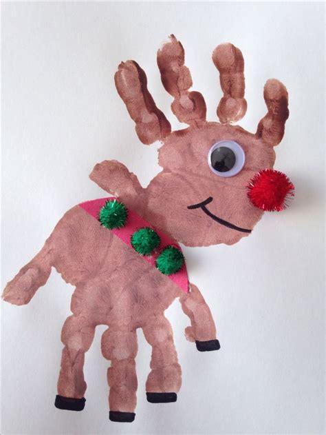 reindeer craft projects handprint rudolph craft reindeer craft craft