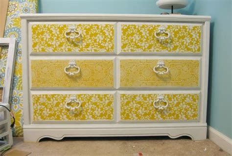 fabric decoupage dresser dressers drawers and fabrics on