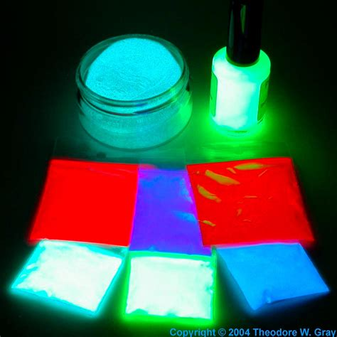 zinc sulfide glow in the paint assorted glow in the paints a sle of the element