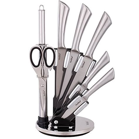 stainless steel kitchen knives set vonshef 7 professional stainless steel kitchen knife