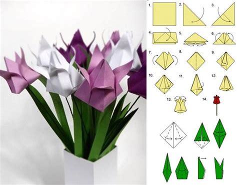 how to make beautiful origami how to diy origami tulip