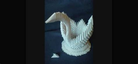 how to make a 3d origami swan how to make a 3d origami swan from 484 paper triangles