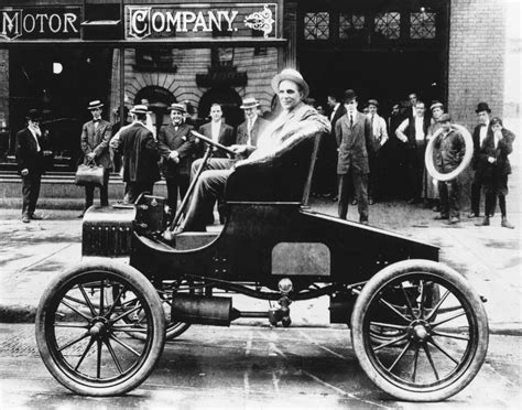 Henry Ford Cars by Henry Ford On His Early Two Seat Version Of The Model A
