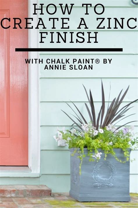 chalk paint zinc finish how to create a zinc finish with chalk paint 174 decorative