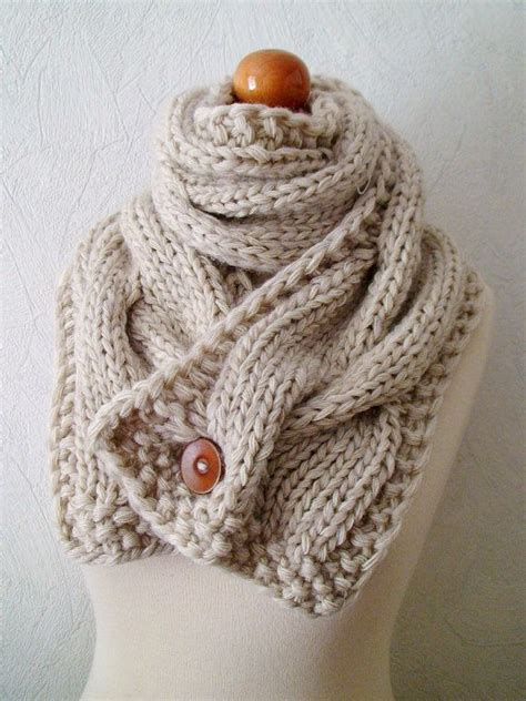 how to knit a cable scarf chunky scarf handknit big cowl thick cabled soft in