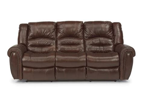 flexsteel reclining sofa flexsteel living room leather power reclining sofa 1210