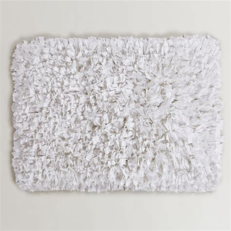 white bath rug white bathroom rugs white jersey shag bath mat world