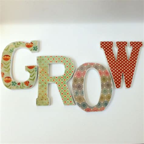 how to make decoupage letters custom names words decoupaged wood letters on luulla
