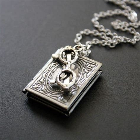 books on jewelry book locket necklace antique silver book worm pendant necklace