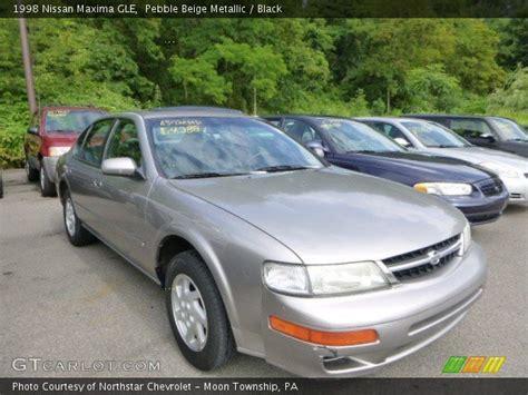 1998 Nissan Maxima Gle by Pebble Beige Metallic 1998 Nissan Maxima Gle Black