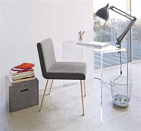 lucite office desk acrylic home office desks for a clearly fabulous work space