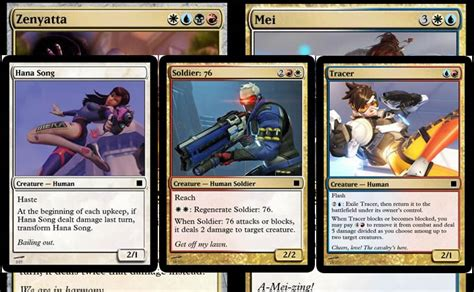 make mtg cards all 25 overwatch heroes made into magic the gathering