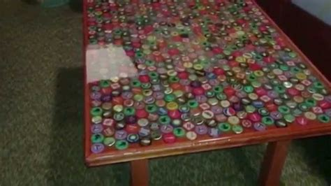 bottle cap table top how to make a bottle cap table