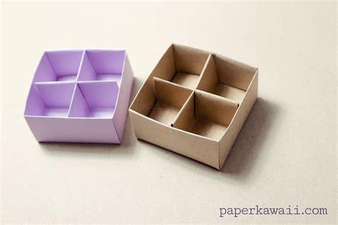 origami box with divider origami masu box divider tutorial paper kawaii