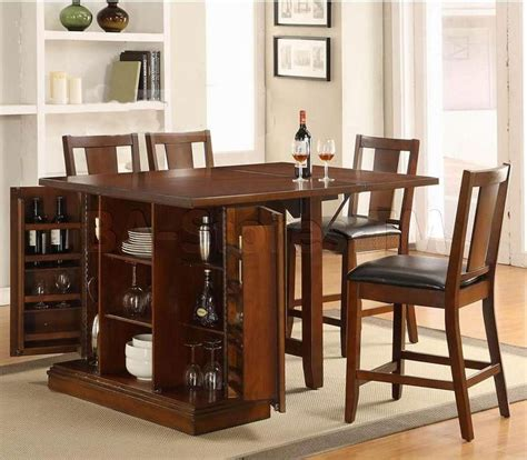 kitchen island table with 4 chairs kitchen island counter height set with chairs table and 4 chairs acme furniture kitchen