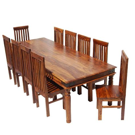 8 Pc Dining Room Set rustic lincoln study large dining room table chair set for