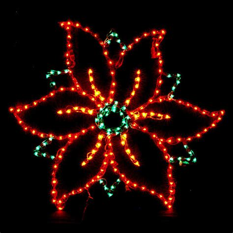 outdoor poinsettia decorations lighted poinsettia outdoor display traditional