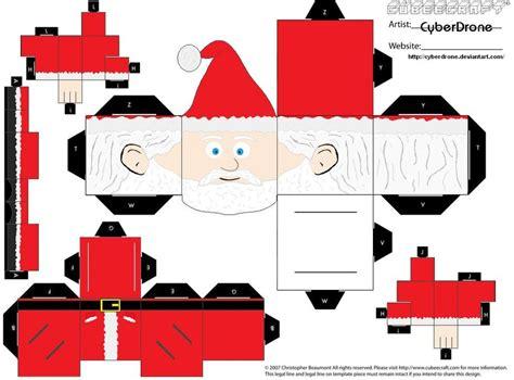 santa claus paper craft cubee santa claus by cyberdrone on deviantart