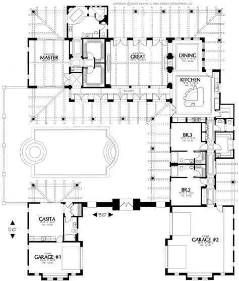 house plans with courtyard hacienda house plans home plans with courtyards